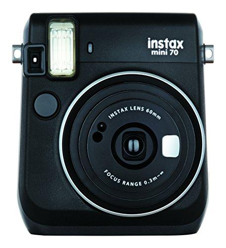 FUJIFILM インスタントカメラ チェキ instax mini 70 ブラック INS MINI 70N BLACK[-]