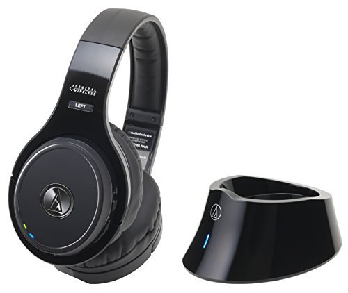 audio-technica 密閉型サラウンドワイヤレスヘッドホンシステム ブラック ATH-DWL700