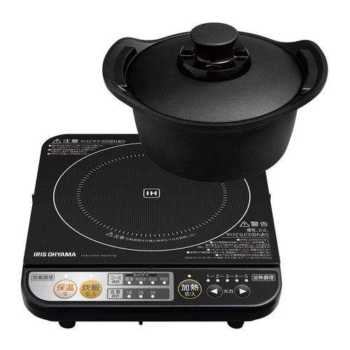 5の倍数日はカードエントリーで5倍/アイリスオーヤマ 鍋 旨み炊飯鍋 IH付 18cm H-DRC-18