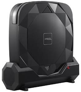 CCP 【LAQULITO】 自動ロボット掃除機(HEPAフィルター搭載) アロマトレイ付き ブラック CZ-S01-BK