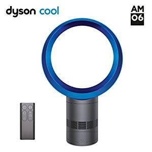 dyson (ダイソン)羽のない扇風機 テーブルファン エアマルチプライアー AM06 アイアン/ブルー AM06DC30IB
