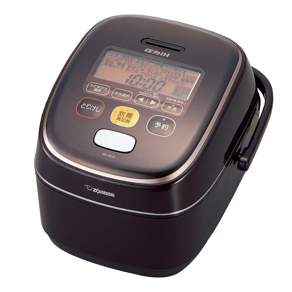 象印 炊飯器 圧力IH式 5.5合炊き ブラウン NP-YB10-TA