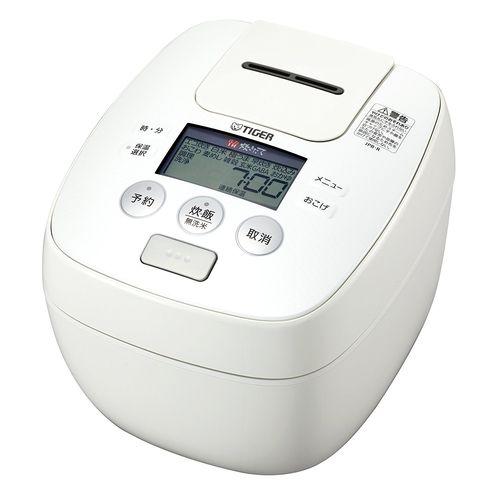 タイガー(Tiger) 炊飯器 5.5合 圧力 IH ホワイト 炊きたて 炊飯 ジャー JPB-R100-W