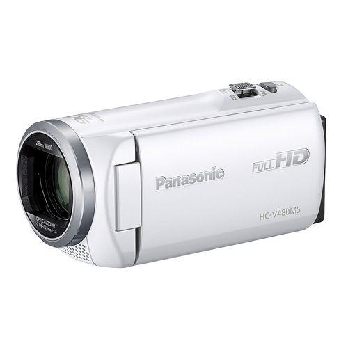 Panasonic HDビデオカメラ V480MS 32GB 高倍率90倍ズーム ホワイト HC-V480MS-W
