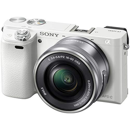 SONY ミラーレス一眼 α6000 パワーズームレンズキット E PZ 16-50mm F3.5-5.6 OSS ホワイト ILCE-6000L W