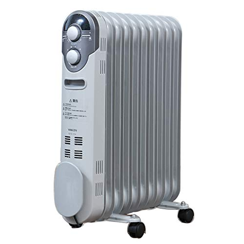 山善 オイルヒーター(1200/700/500W 3段階切替式)(温度調節機能付)(24時間入切タイマー付) ホワイト DO-TL124(W)