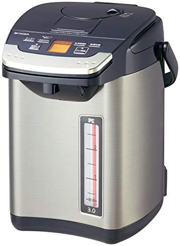 タイガー 電気ポット 3L バーミリオン 蒸気レス 節電 VE 保温 とく子さん PIG-S300-K