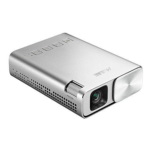 ASUS ZenBeam E1 ポケット LED プロジェクター(小型ミニ/ 150ルーメン/ 6%カンマ%000mAh バッテリー内蔵 /5時間の投影時間/ モバイルバッテリー / HDMI MHL 対応)