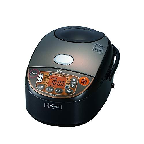 【キャッシュレス5%還元対象】象印 炊飯器 5.5合 IH式 極め炊き ブラウン NP-VJ10-TA