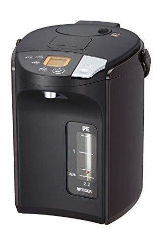 タイガー 電気ポット 蒸気レス VE 電気 まほうびん とく子さん (2.2L) ブラウン PIS-A220-T