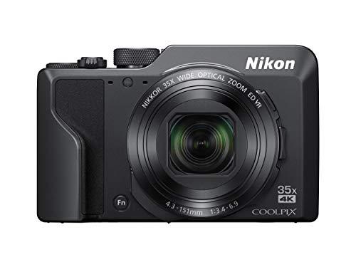 Nikon デジタルカメラ COOLPIX A1000 BK 光学35倍 ISO6400 アイセンサー付EVF クールピクス ブラック 114.2×71.7×40.5mm A1000BK