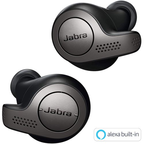 Jabra 完全ワイヤレスイヤホン Elite 65t チタンブラック BT5.0 ノイズキャンセリングマイク付 防塵防水IP55