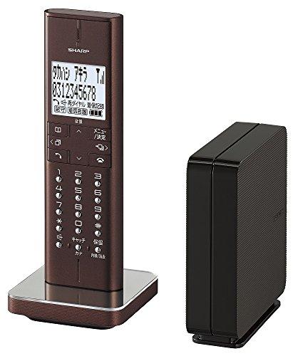 シャープ デジタルコードレス電話機 ブラウン系 JD-XF1CL-T