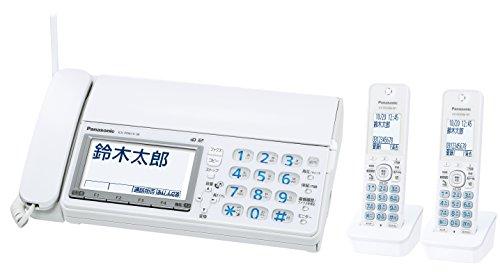 パナソニック デジタルコードレスFAX 子機2台付き 迷惑ブロックサービス対応 ホワイト KX-PD615DW-W