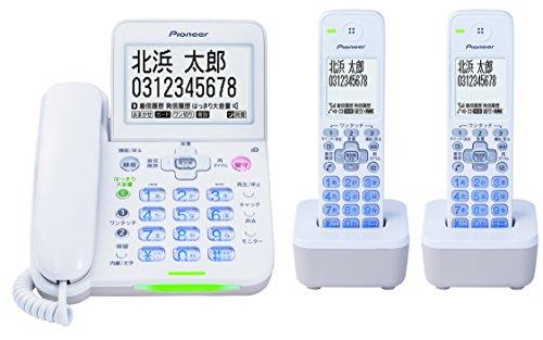 【キャッシュレス5%還元対象】パイオニア Pioneer デジタルコードレス電話機 子機2台付 ホワイト TF-SA75W(W)【国内正規品】