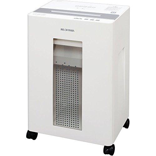 アイリスオーヤマ シュレッダー オフィス向け CD/DVD/カード対応 クロスカット 紙詰まり防止機能付き 細断枚数 18枚 ホワイト OF18J