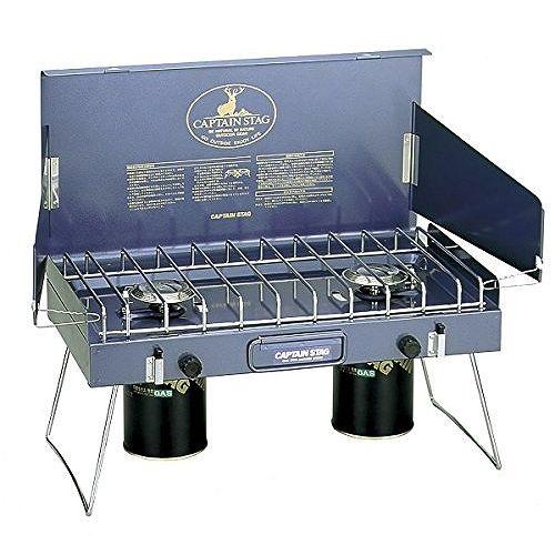 アウトドア バーベキュー BBQ用 ステイジャーコンパクトガスバーナーコンロM-8249 (CP)
