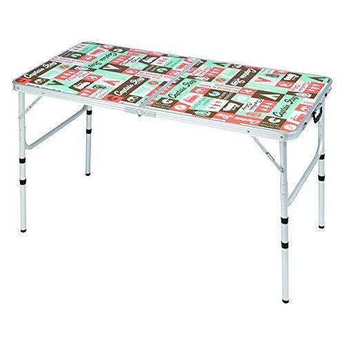 アウトドア キャンプ BBQ用 テーブル 机 アルミ フォーウェイ テーブル アジャスター付 高さ調整4段階 Mサイズ 120×60cm レジャーロード UC-531 (CP)