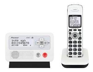Pioneer DECTフルコードレス留守番電話 ホワイトブラック TF-FD30S-WK