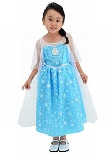 歌が流れる! ディズニー アナと雪の女王 光る!ミュージカルドレス エルサ 100-110cm