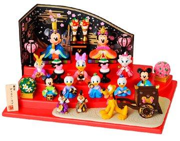 ディズニーリゾート枚数限定 発売 ミッキーと仲間たちの雛人形(台付き) ひな人形 雛人形 お雛様 ひな祭り 雛祭り