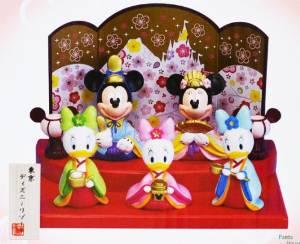 ミッキー ミニー ひな人形 雛人形 中 ドナルド ひな祭り ディズニー 東京ディズニーリゾート枚数限定 Mickey Mouse Minnie Mouse Doll Limited in Tokyo Disney Resort