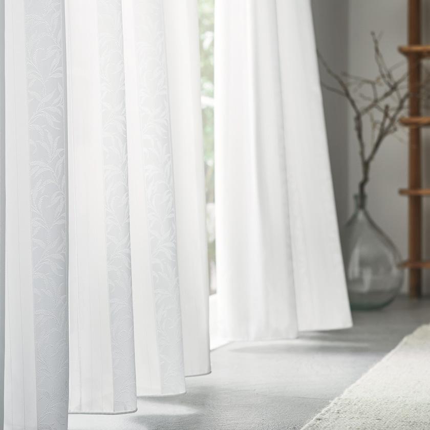 川島織物セルコンの高級 高品質オーダーカーテン リーズナブル お買い得 激安 川島織物セルコン カーテン I'm スーパーセール期間限定 製品幅151~200×製品高さ121~140cm 下部ウェイトテープ ME8544ウォッシャブル アイム レース 'mシリーズ 2倍ヒダ両開き ソフトウェーブ縫製