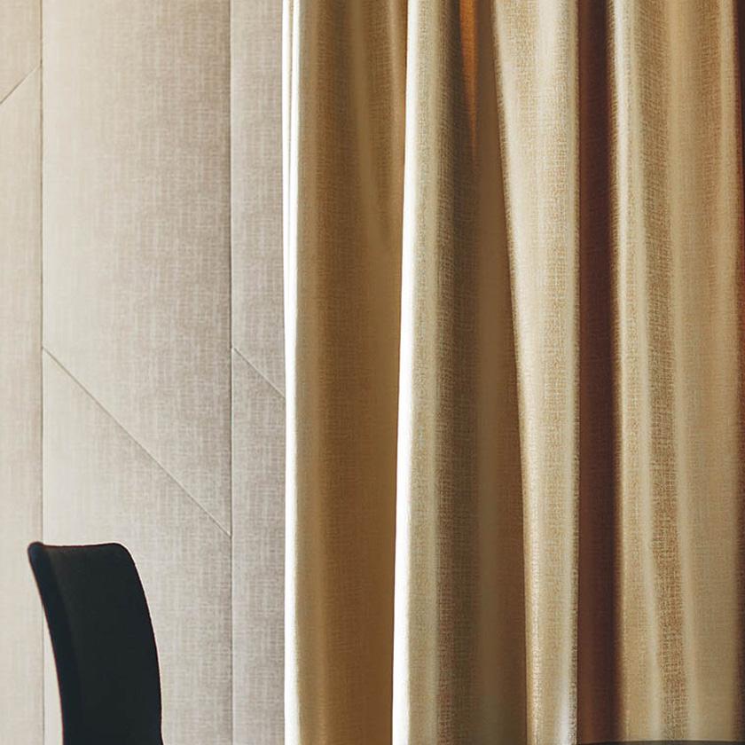 川島織物セルコン カーテン FELTA フェルタ▼ファインウェーブ縫製(下部3ッ巻仕様)2倍ヒダ片開き▼ 【幅26~65×高さ181~200cm】FELTAシリーズ FT6140~6144