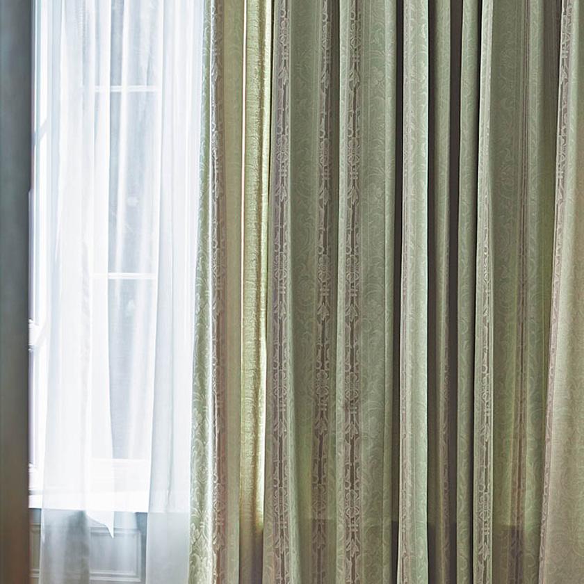 【送料無料】オーダーカーテン▼ドレープソフトウェーブ縫製(下部3ッ巻仕様)1.5倍ヒダ両開き▼【幅371~462×高さ121~140cm】川島織物セルコンFELTAシリーズFT6211~6212FELTAフェルタ