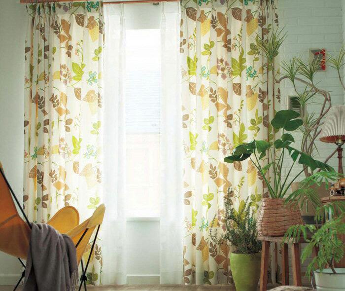 【送料無料】オーダーカーテン▼ソフトウェーブ フラット(ヒダなし)・下部3ッ巻 プルミエ▼川島織物セルコン Premier VINTAGE+DECO PD1007D~1008D