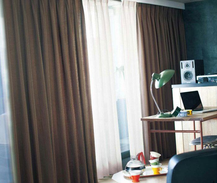 【送料無料】オーダーカーテン▼ソフトウェーブ フラット(ヒダなし)・下部3ッ巻 プルミエ▼川島織物セルコン Premier VINTAGE+DECO PD1015D~1016D