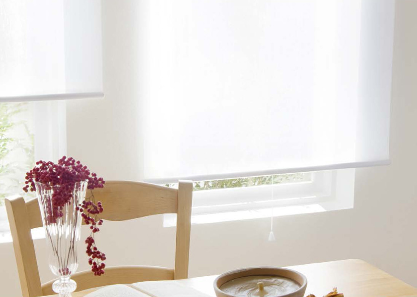 ロールスクリーン オーダー 電動 タチカワブラインド▼ラルク ホームタコス傾斜窓▼ネジ止め式レース ネージュ RS-7609~7611【製品幅160.5~200×製品高さ161~200cm】
