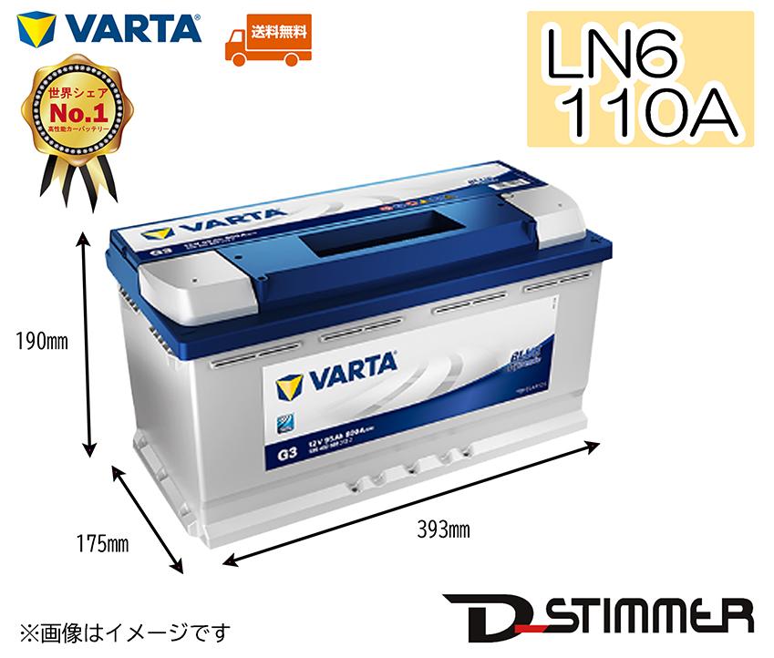 VARTA ヴァルタ バッテリー110A LN6ブルーダイナミックシリーズ延長保証も追加可能!!610402092本州発送分(北海道・沖縄・離島はお値段変わります)