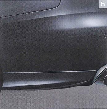 OPC AUDI,VW ☆AUDI純正アクセサリーリアサイドエプロン 2011年モデル A4用