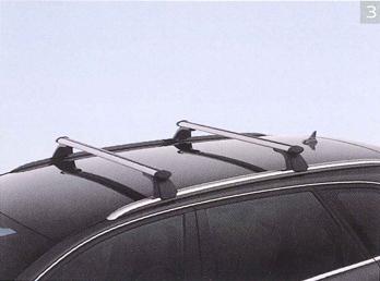 ☆AUDI純正アクセサリーアルミ製 キャリングロッド(Avant専用)2011年モデル A4用