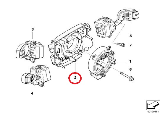 BMW(ビーエムダブリュー)ステアリング舵角センサー純正品 新品5シリーズ E60 E61 6シリーズE63 E6461319136898※要コーディング