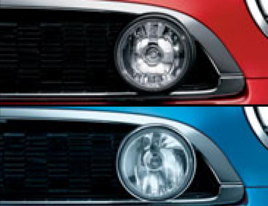 BMW MINIアディショナル・ヘッドランプ・セットブラック ブラック(写真上)63120420291