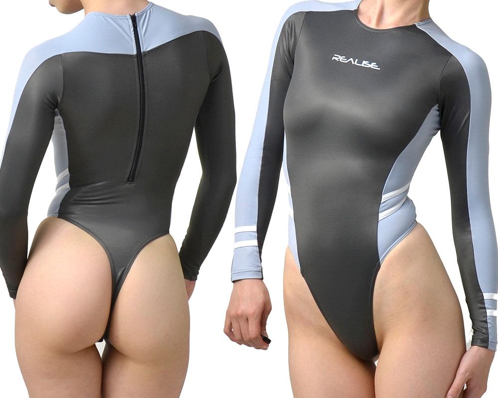 REALISE (T-015) 超薄料长袖游泳泳衣服装丁字裤