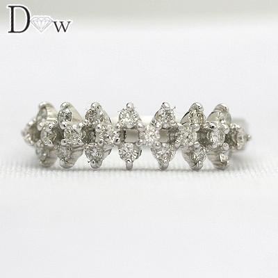 K18WGピンキーダイヤリング 0.31ct