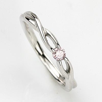K18WGピンクダイヤリング 0.08ct【アーガイル産 天然ピンクダイヤ使用】ダイヤモンド【 輝き厳選保証 】【品質保証書付】