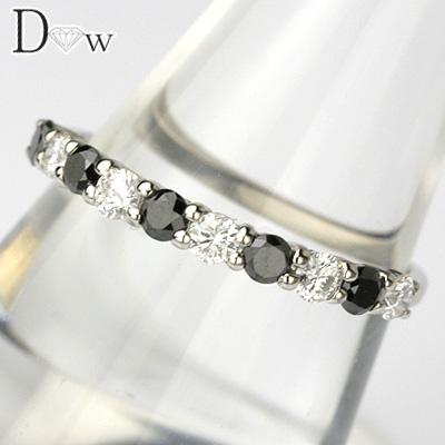 【PTブラックダイヤモンドリング 0.23ct 0.27ct】【ハーフエタニティータイプ】【SIクラスダイヤ使用】【品質保証書付】ダイヤモンド【 輝き厳選保証 】
