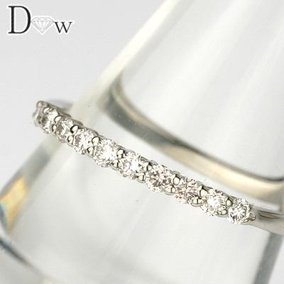 【PTダイヤモンドリング 0.20ct 】【ハーフエタニティータイプ 】【SIクラスダイヤ使用】【品質保証書付】ダイヤモンド【 輝き厳選保証 】