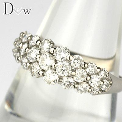【PTダイヤモンドリング 1.00ct】【SIクラスダイヤ使用】【品質保証書付】ダイヤモンド【 輝き厳選保証 】