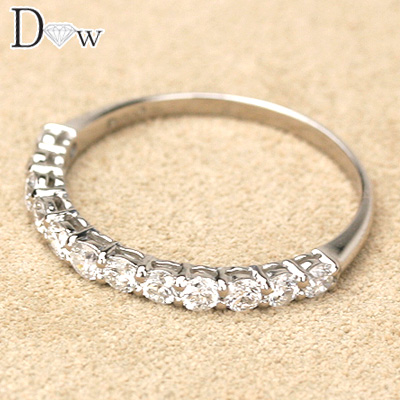 【PTダイヤモンドリング 0.50ct】【ハーフエタニティータイプ】【品質保証書付】ダイヤモンド【 輝き厳選保証 】