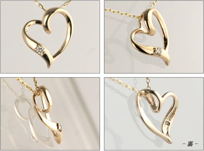 Open heart natural diamond necklace 0.01 ct diamond natural diamonds