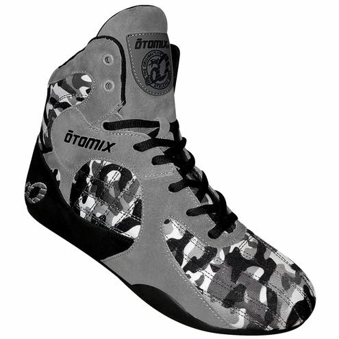新色 オートミックス トレーニングシューズ STINGRAY ESCAPE グレーカモフラージュ OTO MIX スティングレー エスケープ ウエイトトレーニング 筋トレに最適! ボディビル フィジーク メンズ スクワット デッドリフト