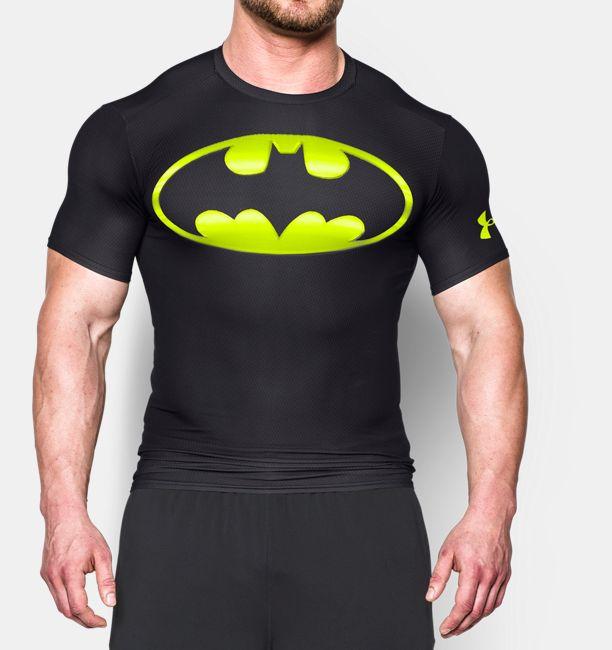 バットマン 黄黒柄 UNDER ARMOUR アンダーアーマーTシャツ フィットネス・筋肉・筋トレ・ウェイトトレーニング レアなALTER EGO オルターエゴシリーズ