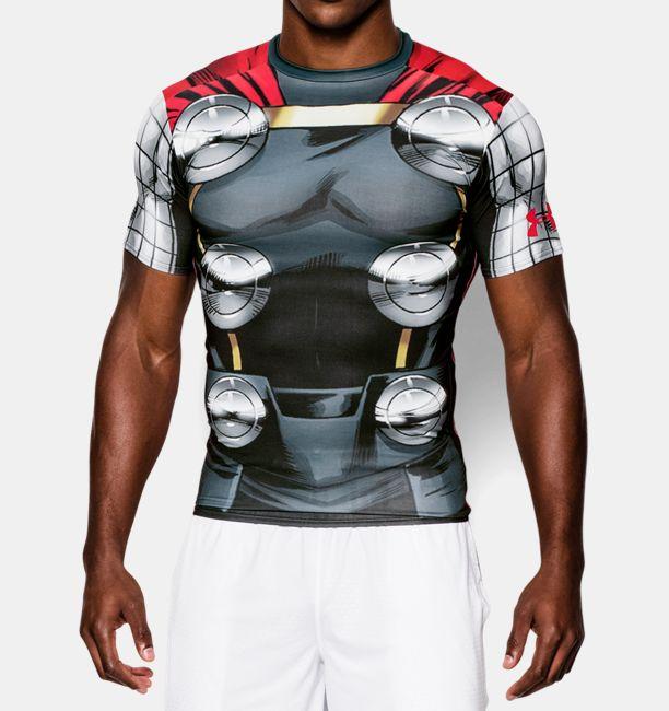 アベンジャーズ マイティー ソー UNDER ARMOUR アンダーアーマーTシャツ フィットネス・筋肉・筋トレ・ウェイトトレーニング レアなALTER EGO ヒーロー・オルターエゴシリーズ