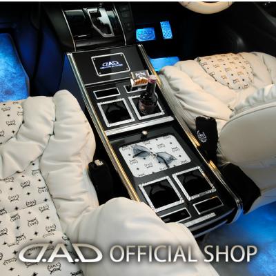 D.A.D ラグジュアリーセンターキャビネット スクエアタイプ レザーデザイン(リーフ/クロコ/ベガ/モノグラム) GGH30/35系 アルファード (ALPHARD)/ヴェルファイア (VELLFIRE) 標準車専用 GARSON ギャルソン DAD