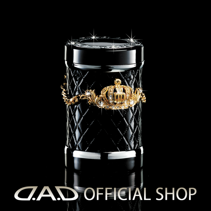 D.A.D LUXURY アッシュボトル タイプ クラウン ゴールド/クリスタルGARSON ギャルソン DAD 4571259518999 灰皿 車用 ドリンクホルダー対応